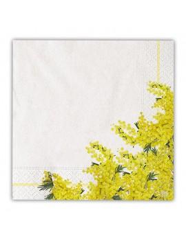 Tovaglioli 33x33 con Mimose (20 pz)
