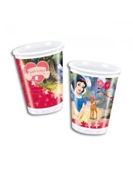 Bicchieri di Plastica Biancaneve da 200 ml