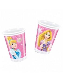 Bicchieri di Plastica Principesse Disney da 200 ml