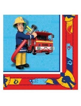 Tovaglioli di Carta Sam il Pompiere 33x33cm