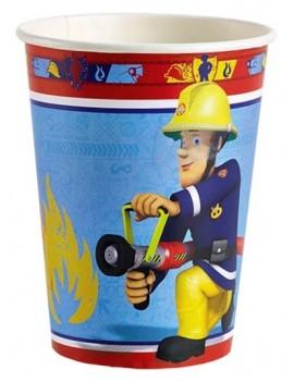 Bicchieri di Carta Sam il Pompiere da 266 ml