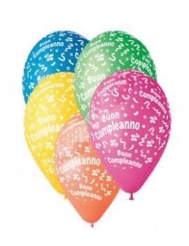 Palloncini in Lattice Buon Compleanno Multicolor