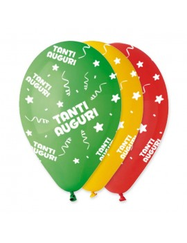 Palloncini Tanti Auguri Multicolor