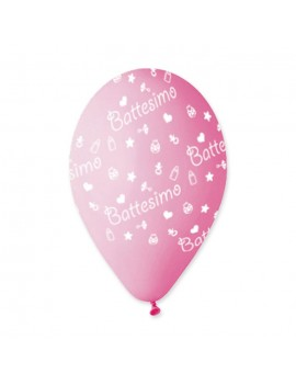 Palloncini in Lattice Battesimo Rosa