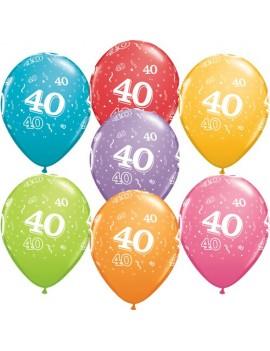 Palloncini Numero 40 Multicolor