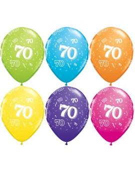 Palloncini Numero 70 Multicolor