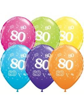 Palloncini Numero 80 Multicolor