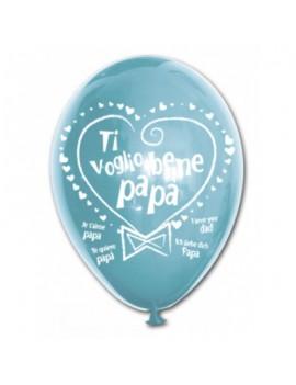Palloncini in Lattice con Scritta Ti Voglio Bene Papà