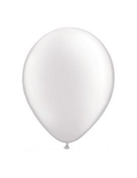 Palloncini in Lattice Bianco Metallizzato 30 cm da 50 pz