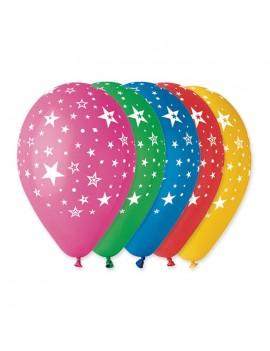 Palloncini Multicolor in Lattice Con Stelline (10pz)